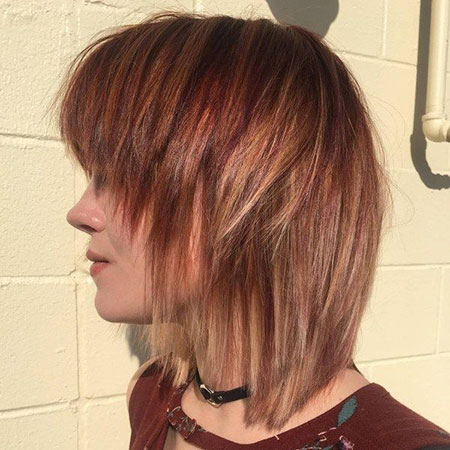 Bob Layered Bangs Inverted