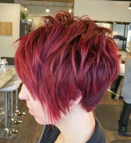 Pixie Hair Burgundy Long