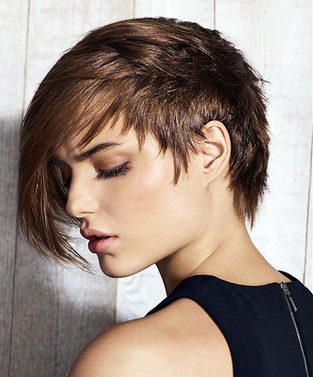 Hair Short Pixie Brown