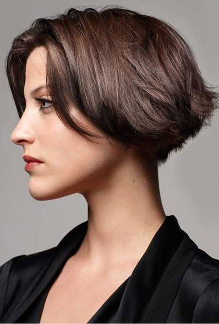 Short Brown Hair Bob