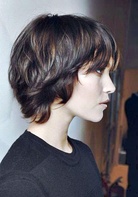 Hair Short Shag Messy