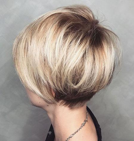 Fine Blonde Hair, Bob Pixie Blonde Brown