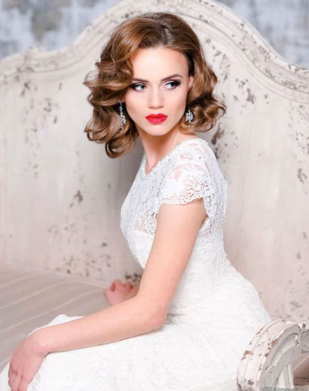 Classy Curly Wedding Hair, Wedding Bridal Gowns Dresses