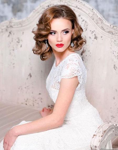 Classy Curly Wedding Hair, Wedding Bridal Gowns Dresses