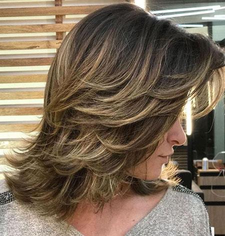 Length Medium Layered Haircuts