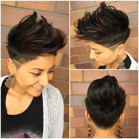 Hair Short Pixie Combover