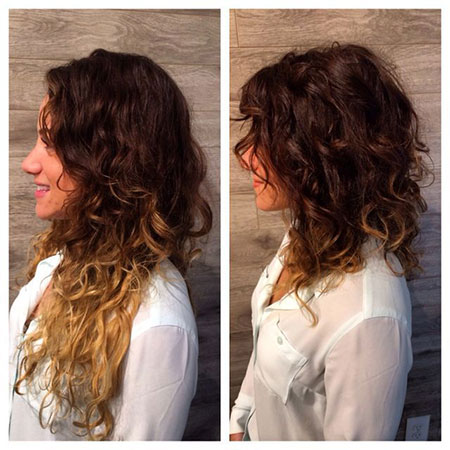 Hair Curly Haircuts Balayage