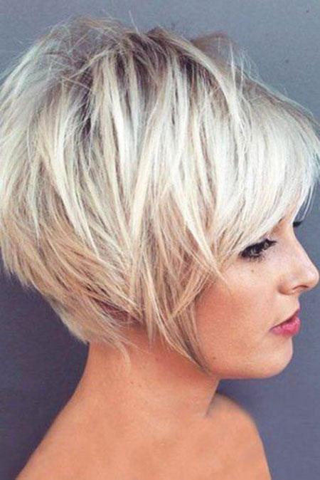 Choppy Layered Blonde Angled