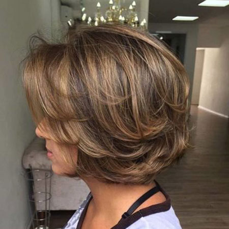 Dark Brown Bob, Bob Hair Thick Haircuts