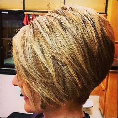 Angled Pixie Bob, Bob Hair Short Thick