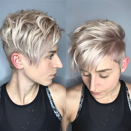 Blonde Shag Pixie, Pixie Choppy Short Haircuts
