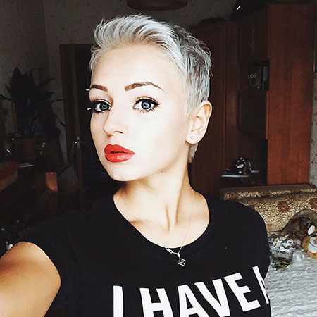 Too Short Haircut, Very Women Pixie Lady