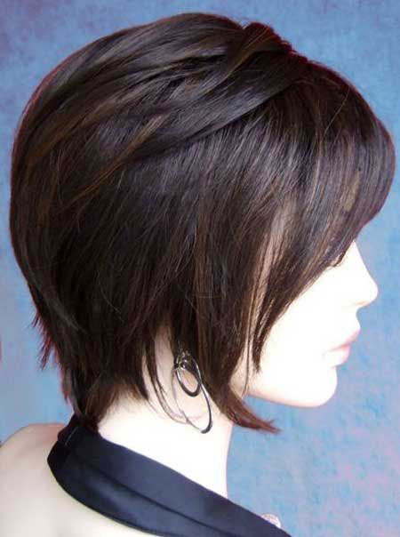 Asian Layered Short Haircut, Bob Shag Short Hairtyles