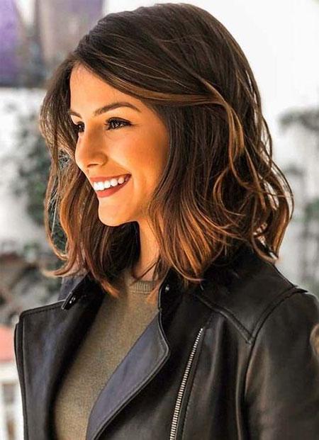 Wavy Lob Style, Hair Length Shoulder Hairtyles