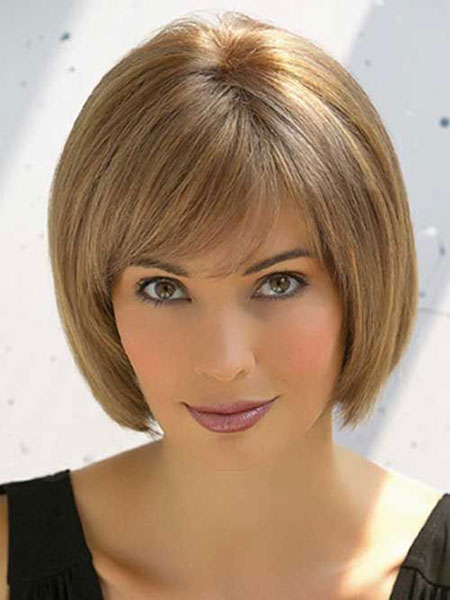 Sleek Bob Cut, Hair Short Bangs Straight