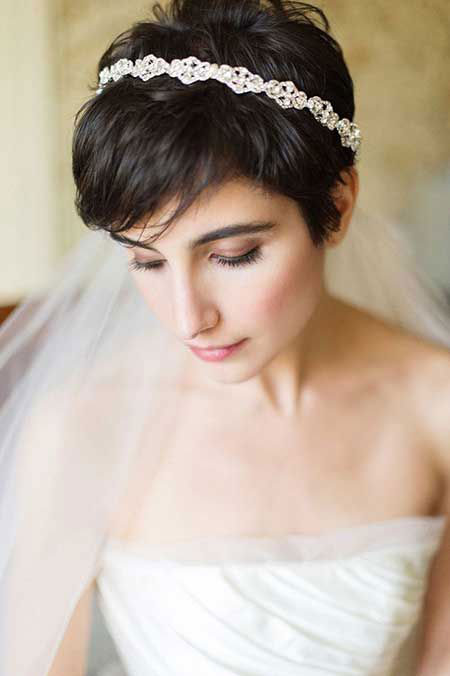 Cute Pixie, Wedding Hair Bridal Pixie