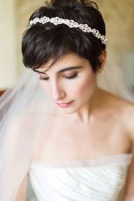 Cute Pixie, Wedding Hair Bridal Pixie