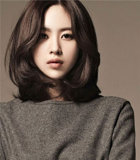 Asian Long Bob, Young Hair Ulzzang Women