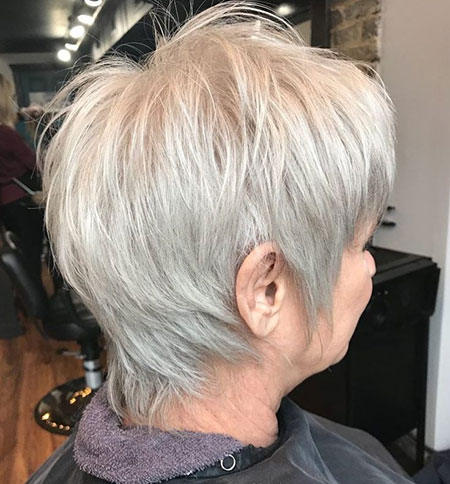Back View of Layered Pixie, Pixie Choppy Hairtyles Fine