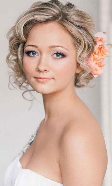 Curly Hair Updo, Short Hair Wedding Hairtyles