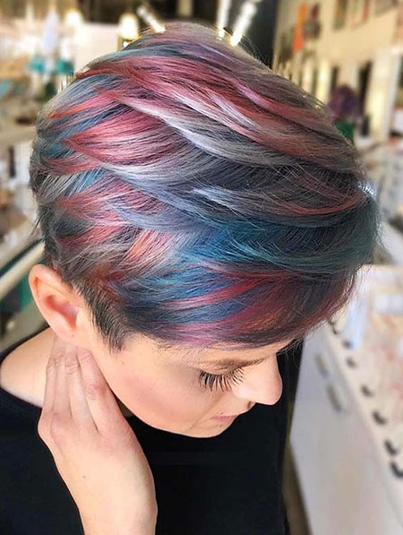 Hair Pixie Color Short