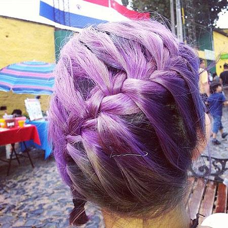 Purple Hair Braids Color