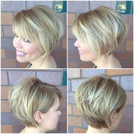 Pixie Layered Rose Blonde