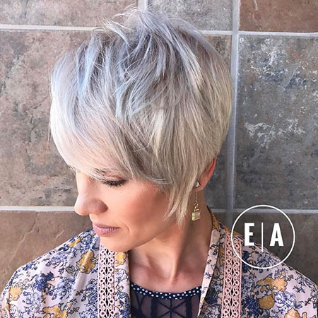 Pixie Layered Blonde Cut