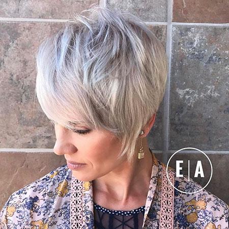 Pixie Layered Blonde Cut