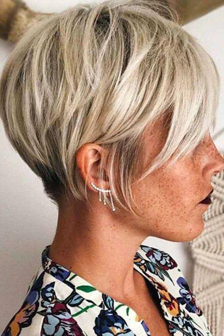 Pixie Hair Blonde Ash