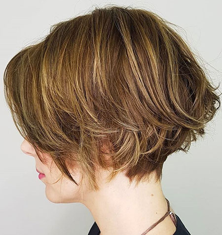 Bob Layered Brown Short
