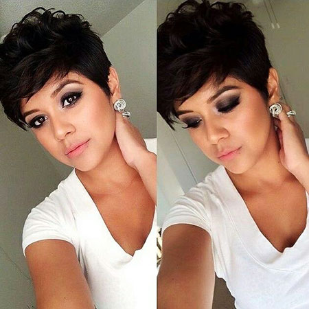 Pixie Hair Dark Styles