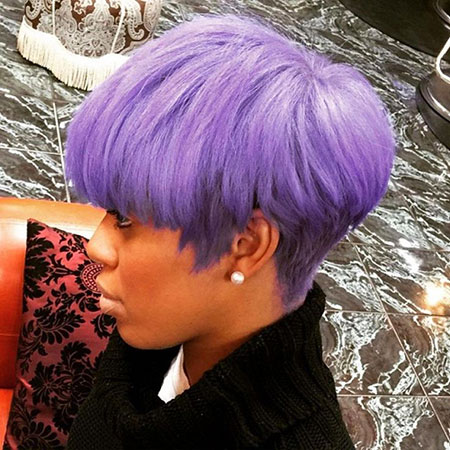 Hair Purple Short Pixie