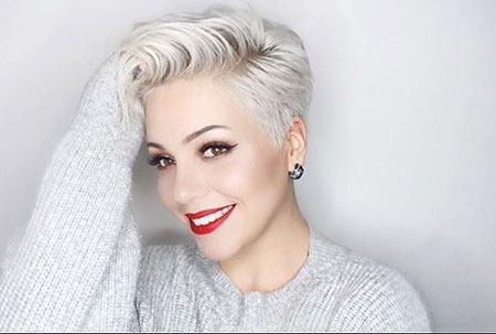 Pixie Silver Short Cut