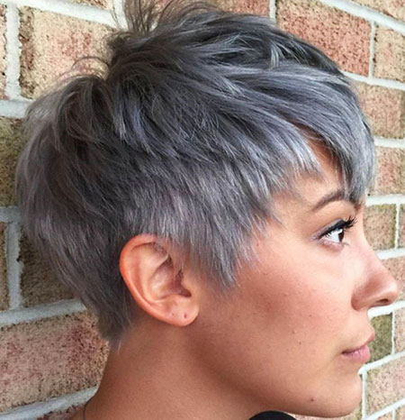 Pixie Gray Spiky Short