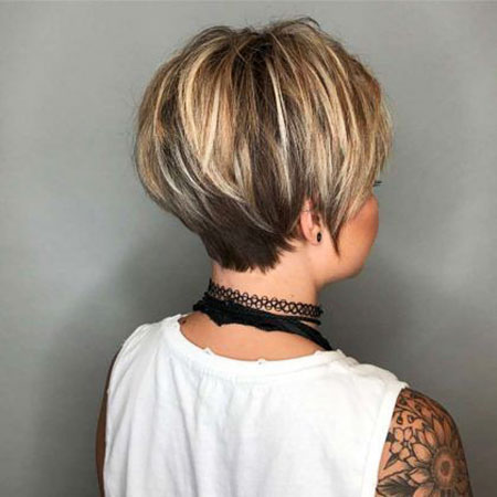 Choppy Layered Pixie Blonde