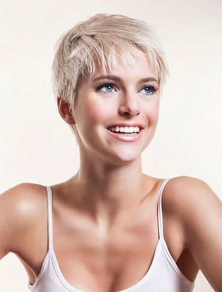 Pixie Hair Short Blonde