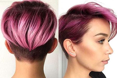 Choppy Pixie Purple Hair