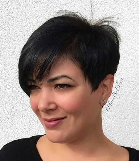 Pixie Cut with Side Bangs, Pixie Layered Bob Side