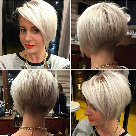 Blonde Bob Cut, Bob Pixie Women Feathered