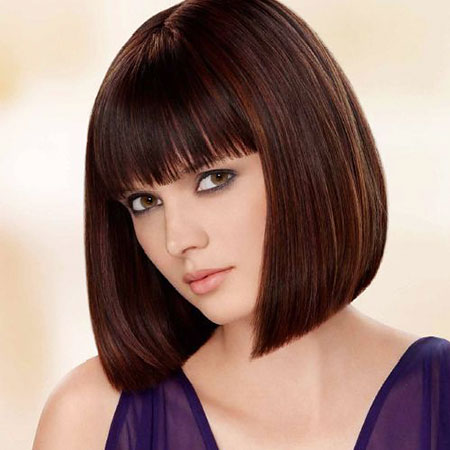 Medium Bob with Bangs, Bangs Hairtyles Medium Length