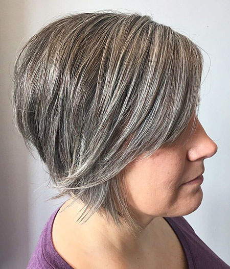 Bob Layered Inverted Gray