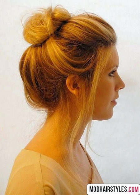 20 Easy Buns For Short Hair Short Hairstyles Amp Haircuts