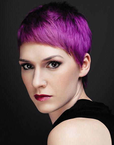 Hair Short Pixie Color