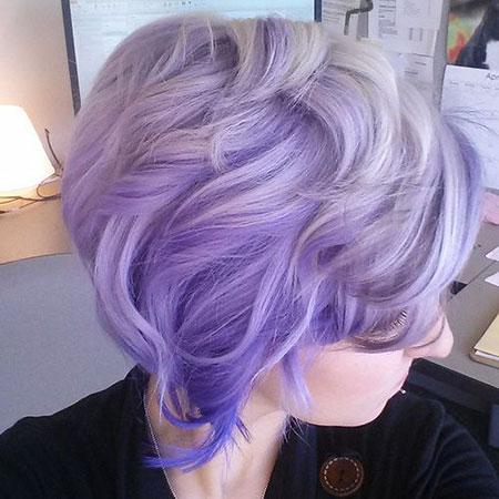Hair Purple Ombre Lavender