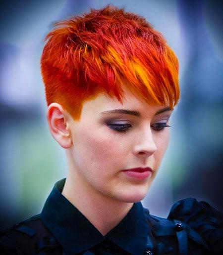 Hair Short Red Women