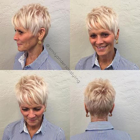 Pixie Blonde Women Modern