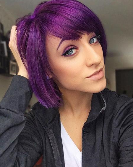 Purple Bob Hair Color