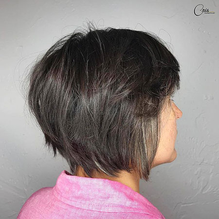 Bob Layered Brown Modern