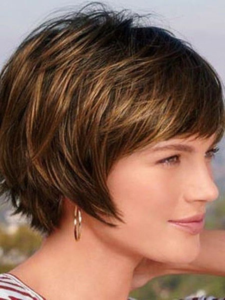 Chin Length Bob, Short Hair Women Older